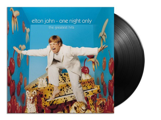 CD cover van One Night Only: The Greatest Hits (LP) van Elton John