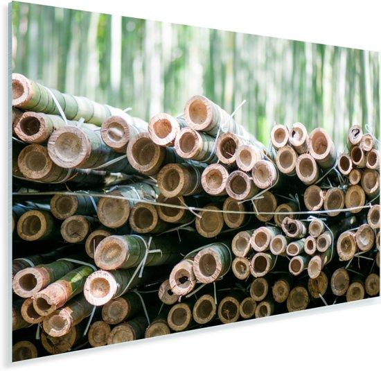 Stapel gesneden bamboe Arashiyama Plexiglas 120x80 cm - Foto print op Glas (Plexiglas wanddecoratie)