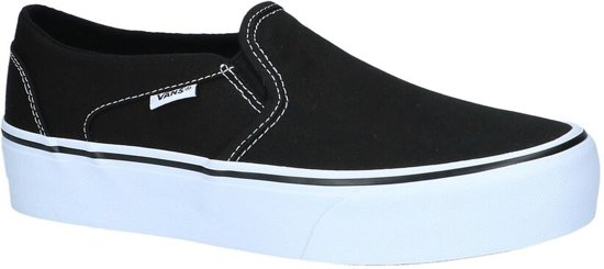 Vans Asher Platform Zwarte Slip on Skateschoenen | TORFS.BE