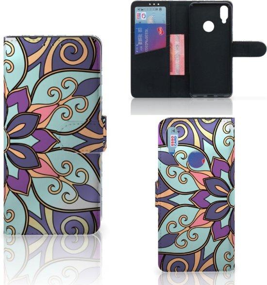 Xiaomi Redmi Note 7 Hoesje Purple Flower