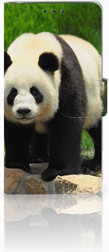 HTC Desire 626 Uniek Hoesje met Pasjeshouder Panda in Huisvennen
