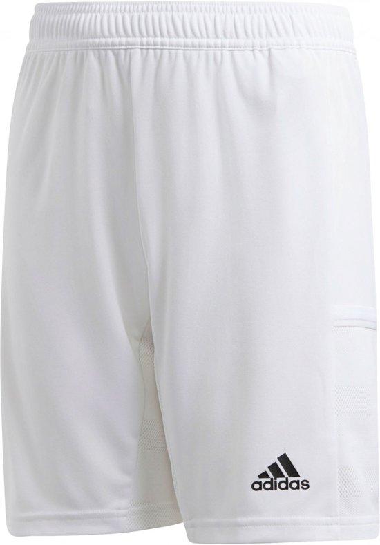 adidas T19 Short Junior Sportbroek Maat 152 Unisex wit