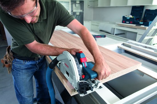 Bosch Professional Invalcirkelzaagmachine GKT 55 GCE (2x FSN 1600, 1x FSN VEL, 1x zak)