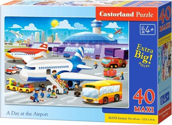 Castorland - XXL Puzzel - Een dag op het vliegveld - 40st.