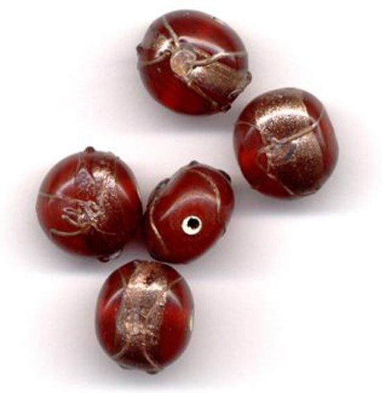 30 Stuks Hand-made Jewelry Beads - Rond - Opague Earth Red