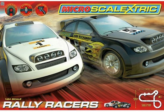 MicroScalextric Rally Racers - 2 Player dé coolste autobaan/racebaan met lengte van 386cm