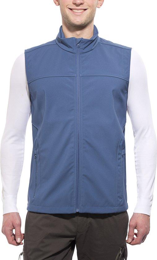 Axant Alps softshell bodywarmer Heren blauw Maat S