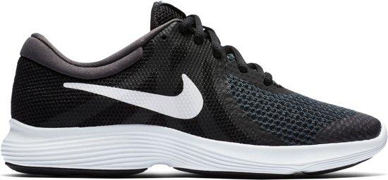 Nike Revolution 4 BG Hardloopschoenen Kinderen - Black/White-Anthracite - Maat 37.5