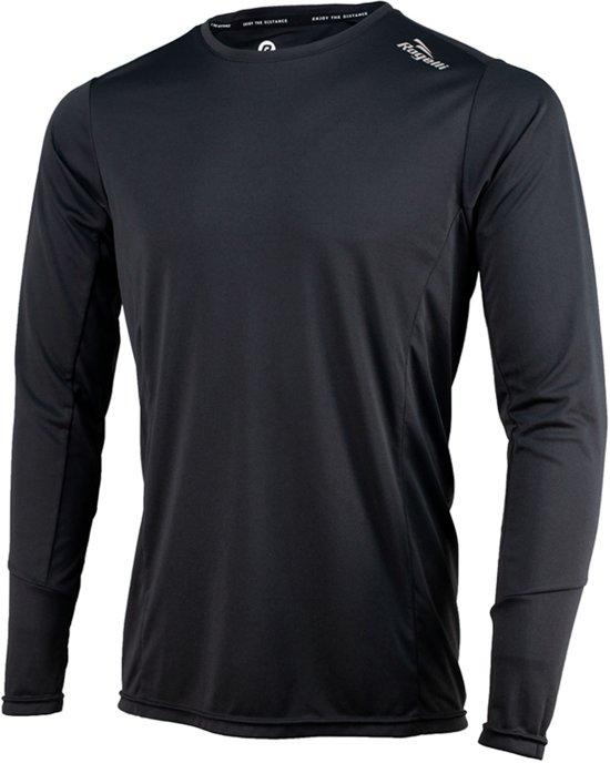Rogelli Basic Running Longsleeve Heren  Sportshirt - Maat M  - Mannen - zwart