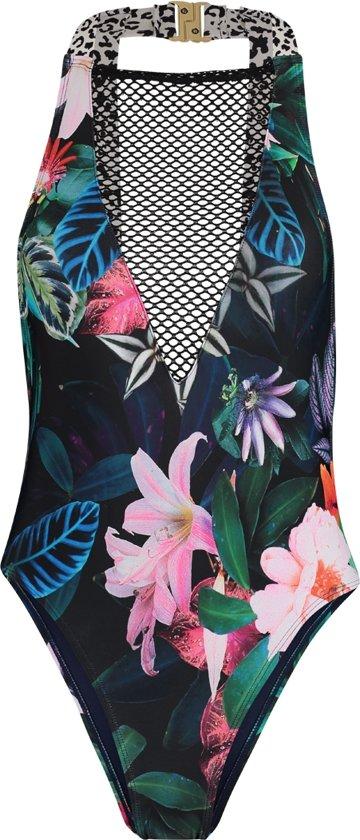 CalDes 40 Moro Sapph Bathingsuit Flower BadpakTropical Dames Maat 76vyIfmYbg