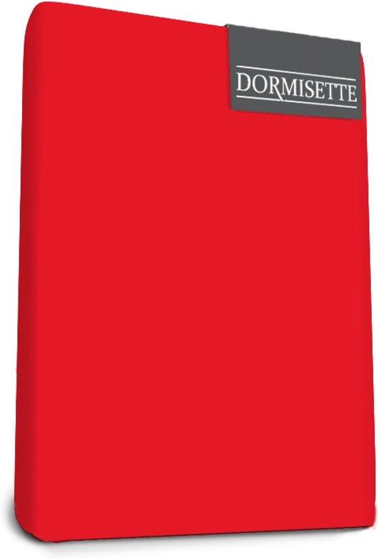 Dormisette Mako Jersey Topdek Split hoeslakens 140 X 200 cm rood