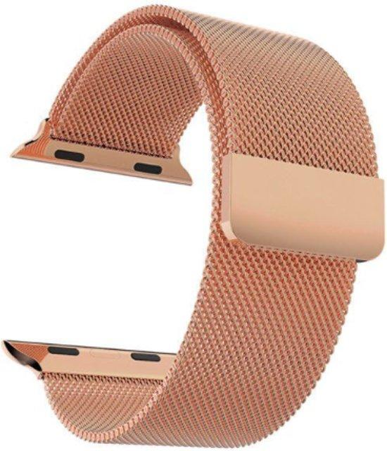Apple Watch Bandje Milanees 38mm Copper - Milanese Loop Band 38mm Koper Kleurig