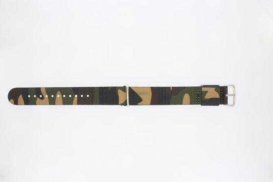 Horlogeband Universeel 410.C1.20 Textiel Multicolor 20mm