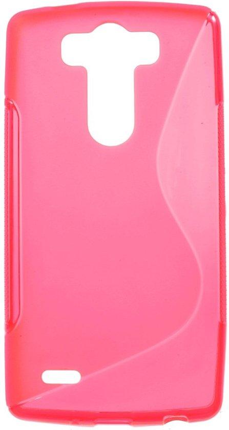 LG G3 S TPU Case S-shape Roze in Bleijenbeek