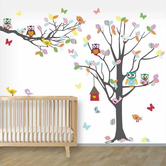 Decoratie Boom Babykamer.Decoratie Stickers Muur Wand Voor Slaapkamer Kinderkamer En Babykamer Decodeco Muursticker Boom Tak Happy Antra
