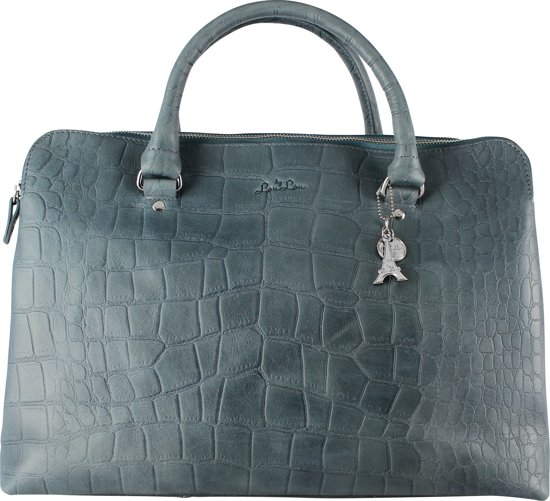 by LouLou 12BAG Vintage Croco - Shopper - Blauw