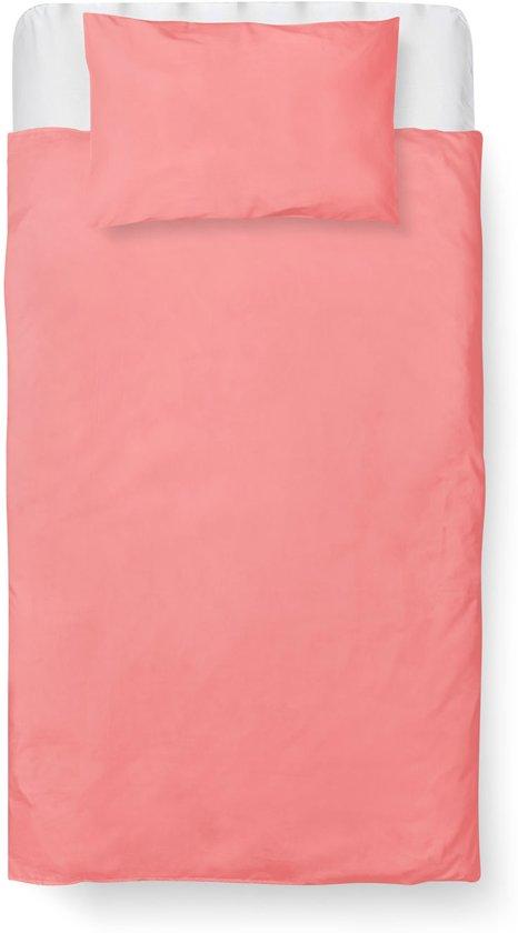 9ff6e7995096cd Roomture - Dekbedovertrek Ledikant - Katoen - 100 x 135 - Roze - Baby Pink