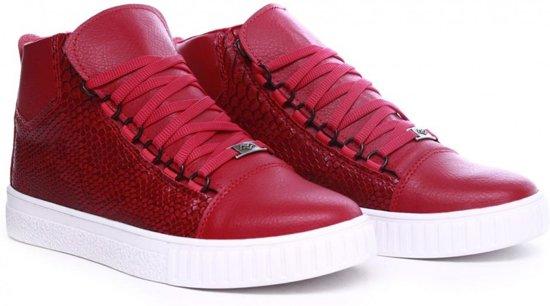 Van Hoog Snake Met Print Kleur Rood Half Heren Manzotti Sneakers q05CwxnZF