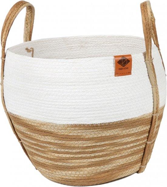 Paper rope mand ray  M 33x33x29cm