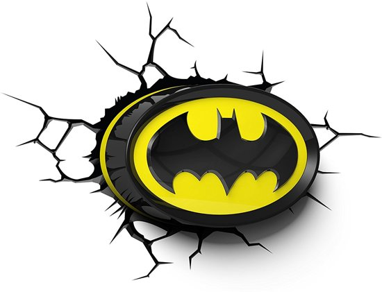 Bol 3dlightfx Batman Logo 3d Wandlamp Led