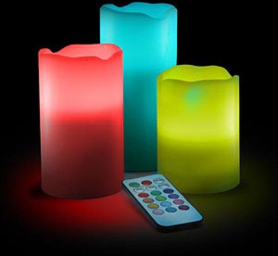 Luxe LED Kaarsen Set Met Afstandsbediening - 3 Stuks