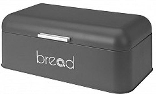 Brabantie Broodtrommel Grijs.Bread Design Broodtrommel Metaal 42x22x16cm Brooddoos Kleur Grijs
