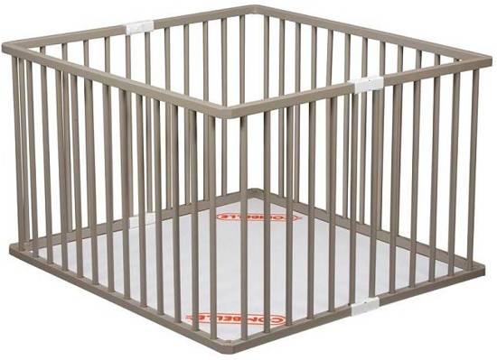 Combelle - houten inklapbare babybox - grijs