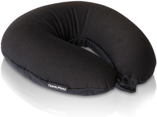 TravelMore Microbead Reiskussen De Luxe - U-vorm - Zwart
