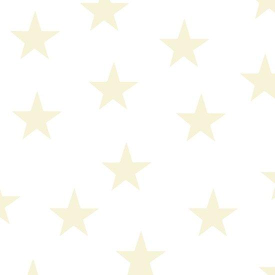 Sterren muurstickers pastel geel - 10 stuks - 5x5cm