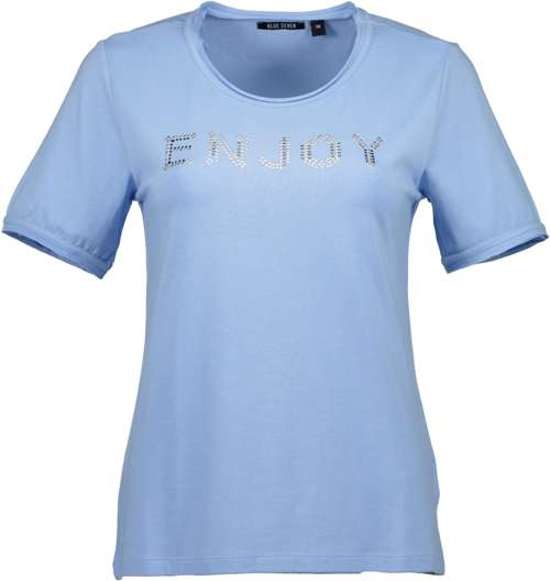 Seven Dames Shirt 'enjoy' Maat 46 Blue F8pAxqffw