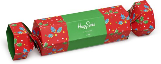 Happy Socks Christmas Cracker Holly Giftbox - Maat 41-46