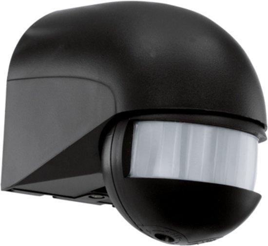 Buitenlamp Met Sensor Zwart.Eglo Detect Me Buitenlamp Sensor 180 Zwart