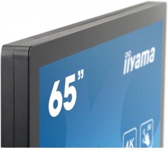 iiyama ProLite TF6537UHSC 65'' 3840 x 2160Pixels Multi-touch Zwart touch screen-monitor