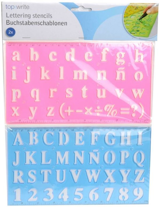 Alfabet / Letter Sjabloon, 2 Delig