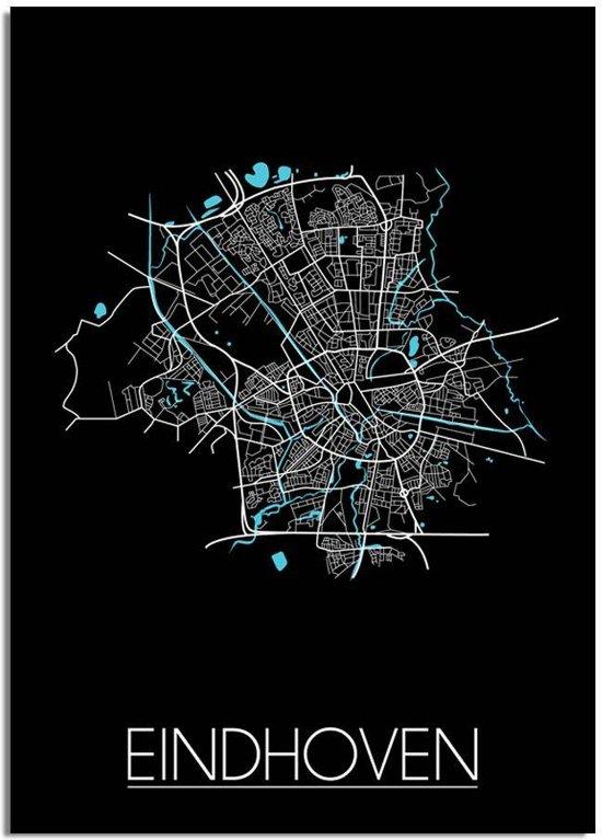 DesignClaud Eindhoven Plattegrond poster A3 poster zonder fotolijst