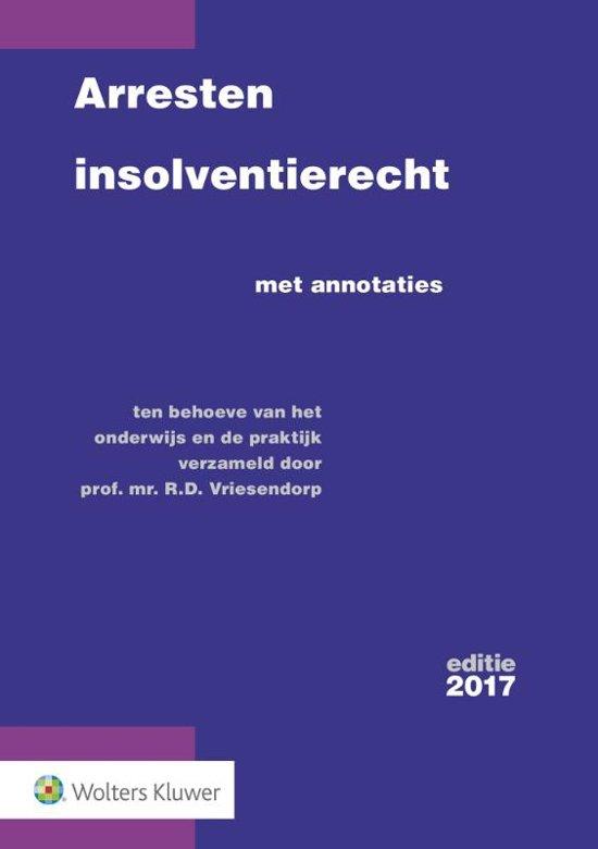 Boek cover Arresten insolventierecht van R.D. Vriesendorp (Paperback)