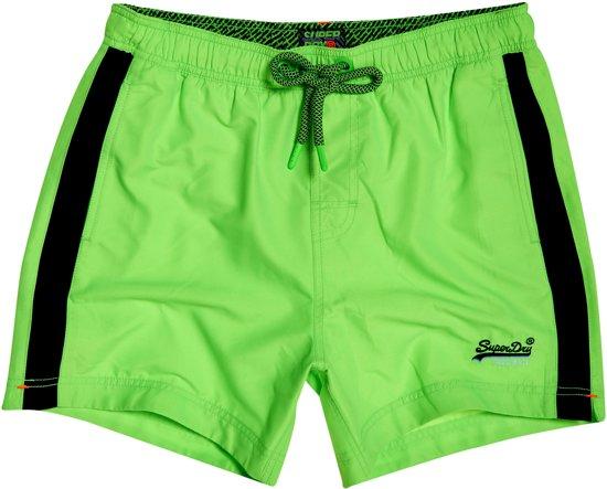 6974a17fb19716 Superdry Beach Volley Swim Short Heren Zwembroek - Maat M - Mannen - groen/ zwart