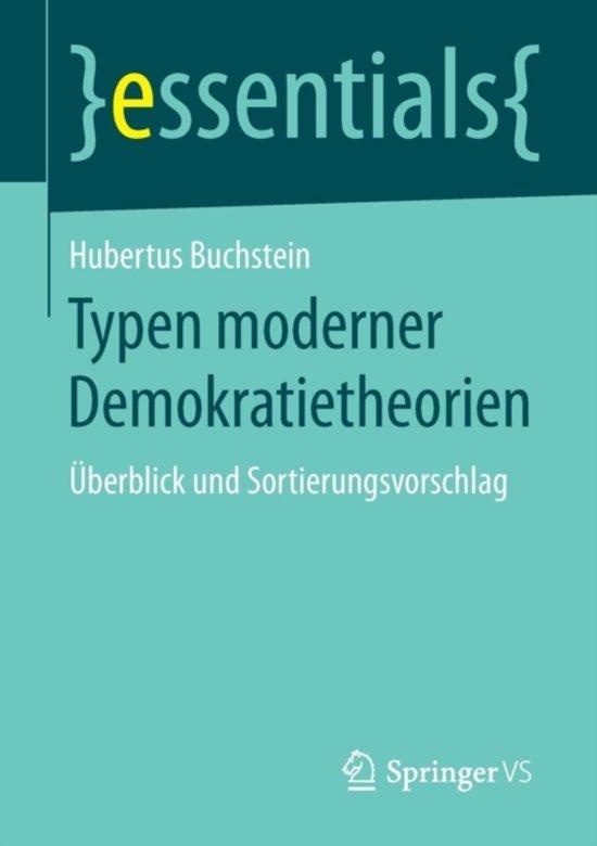 bol com | Typen Moderner Demokratietheorien, Hubertus