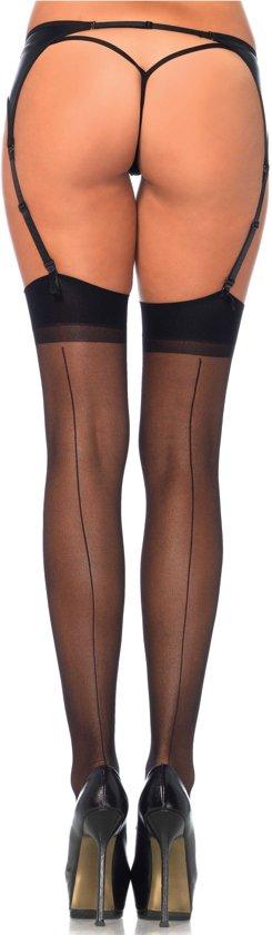 Leg Avenue lingerie kousen s/l - zwart