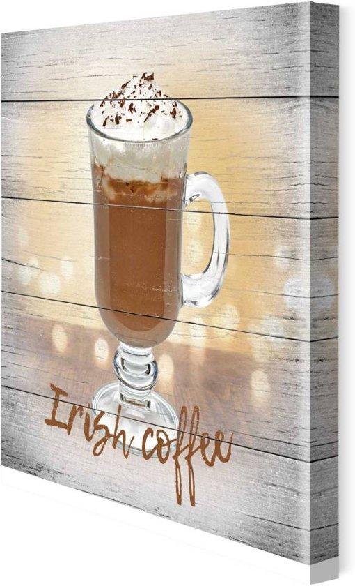 Irish koffie  - Schilderij 30 x 30 cm