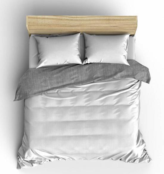 Flanel Dekbedovertrek Washcotton Wit - 240x200/220 - Ideaal Voor De Winter - Nightlife