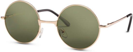 0e31feedecc3e8 Cheapass Zonnebrillen - Ronde zonnebril - Goedkope zonnebril - Goud groen