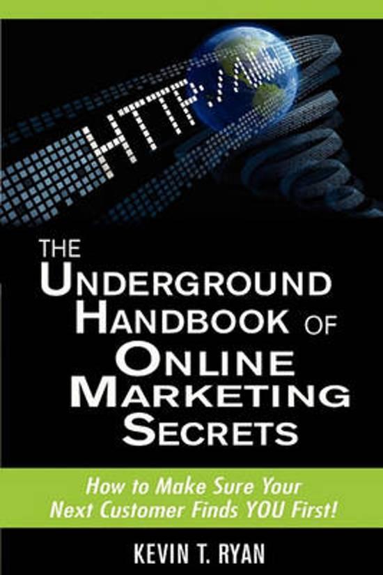 The Underground Handbook of Online Marketing Secrets