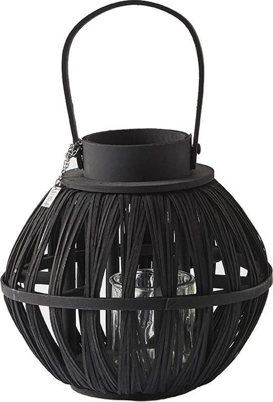 Riviera Maison Calcara Beach Lantern Windlicht - 20 Cm - Zwart
