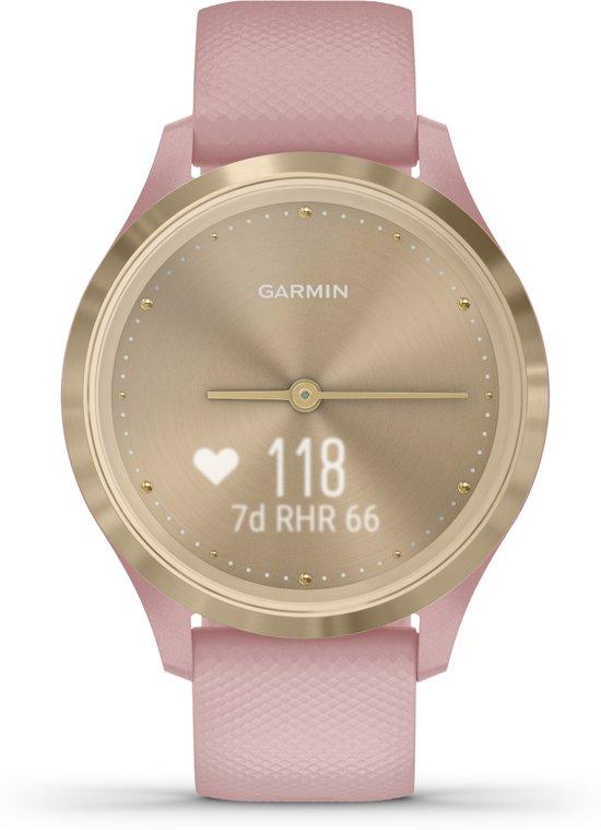 Garmin Vivomove 3S - hybride smartwatch - Goud/roze