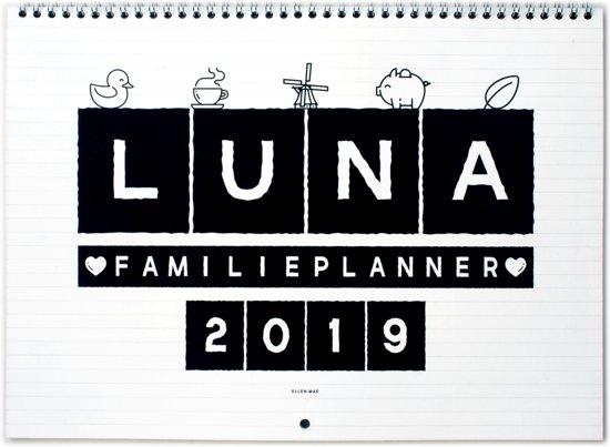 LUNA Familieplanner 2019 | Maandkalender | Maandplanner