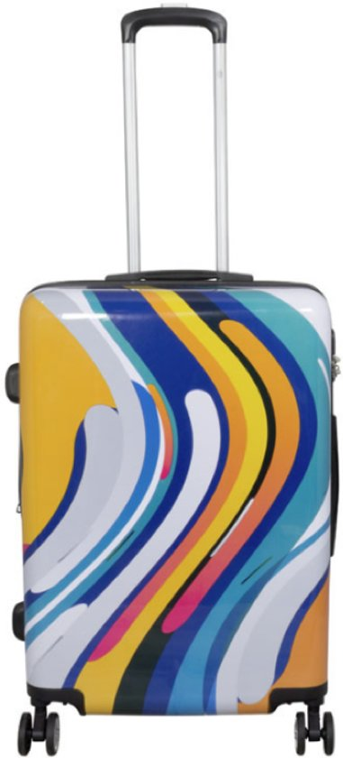 koffer - valies - reiskoffer met opdruk Tokyo - DUBBEL WIEL - 68cm - 66Liter