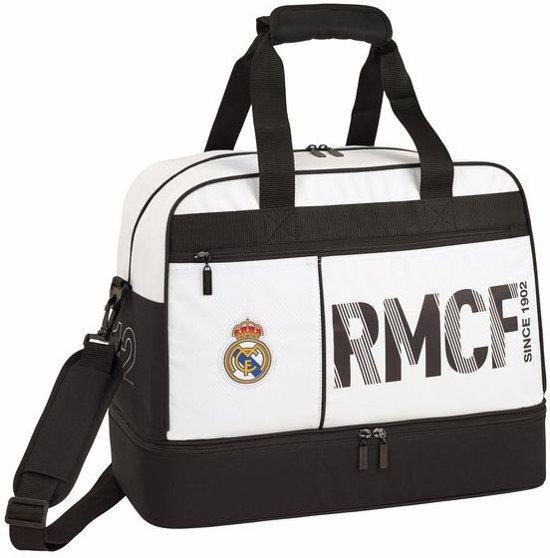 Real Madrid Sporttas 48 cm met schoenenvak wit