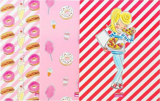 Blond Amsterdam schoollijn 18/19 Snack Attack Set/3 A5 schriften