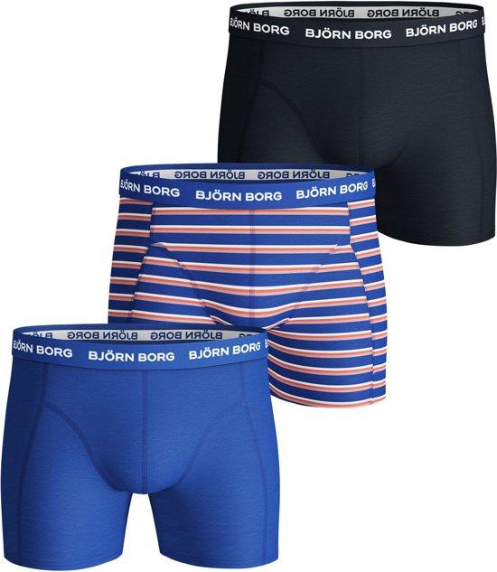 2a9d3bc75d3a59 bol.com | Bjorn Borg Heren Boxershorts - 3-pack - Blauw/Oranje/Zwart ...